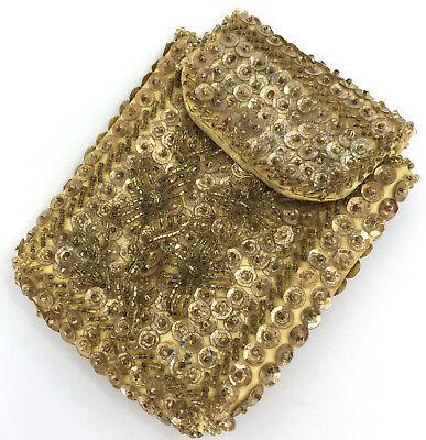 Cigarette Pack Holder Wallet Compact Case Sequins Seed Beads 1950s Hong Kong (Sequin Cigarette Holder)