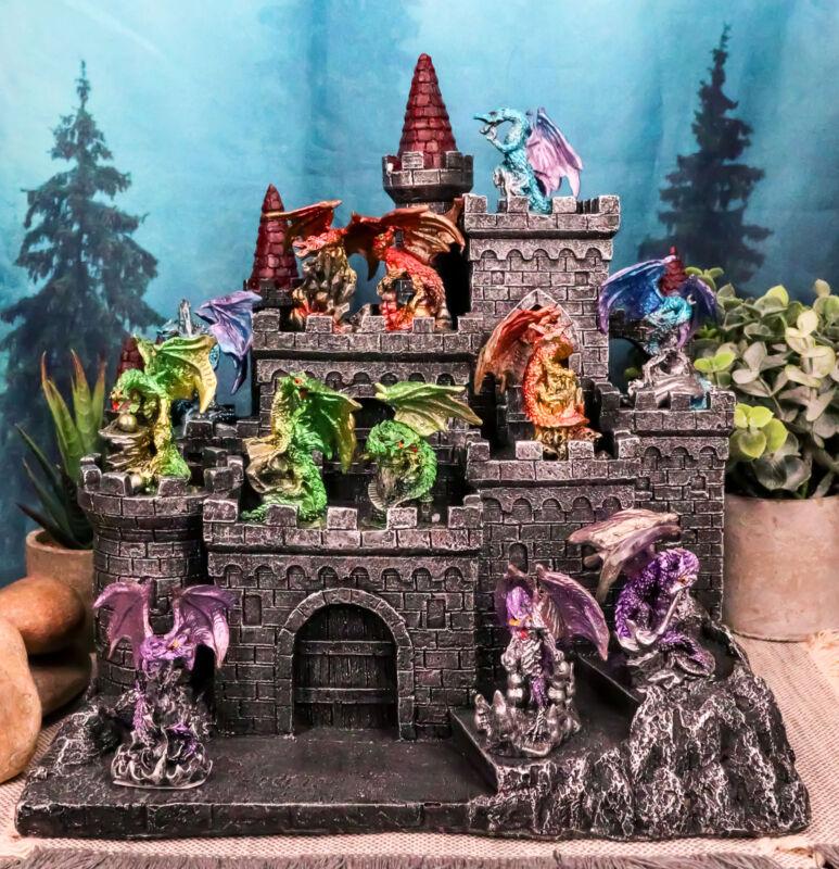 Medieval Mini Dragons Guarding King