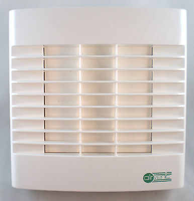 """Bathroom Extractor Fan 4"""" 100mm - Timer & Automatic Shutters - Made at Vent Axia"""