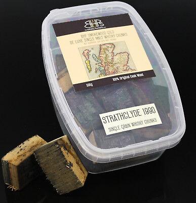 BHP Smokewood Gold Chunks - Strathclyde 1990, Whisky Chunks 500 g