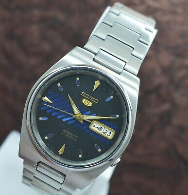 Genuine Seiko 5 Day Date 21 Jewels 7S26 Automatic Movement Men's Wrist Watch