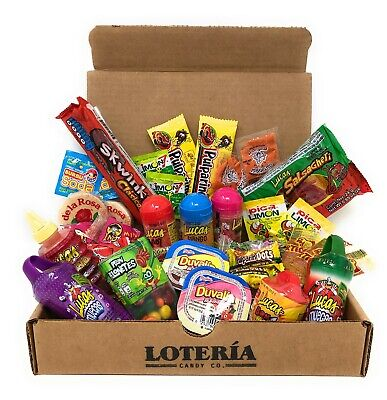 Loteria Candy Co. Ultimate Mexican Care Box 40 Premium Pieces Plus FREE Gift