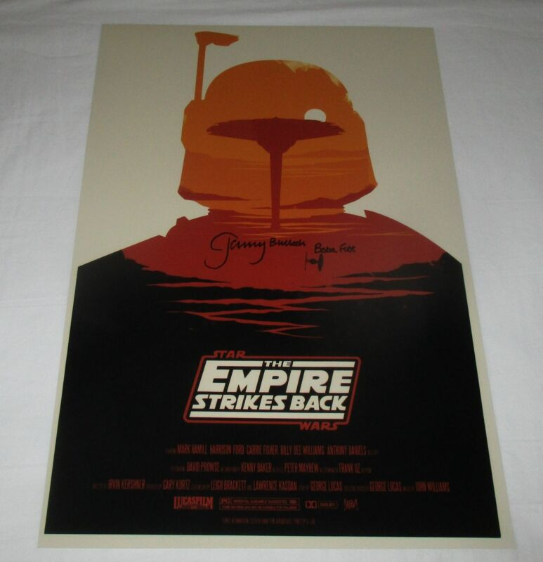 JEREMY BULLOCH SIGNED STAR WARS THE EMPIRE STRIKES BACK 12X18 MOVIE POSTER