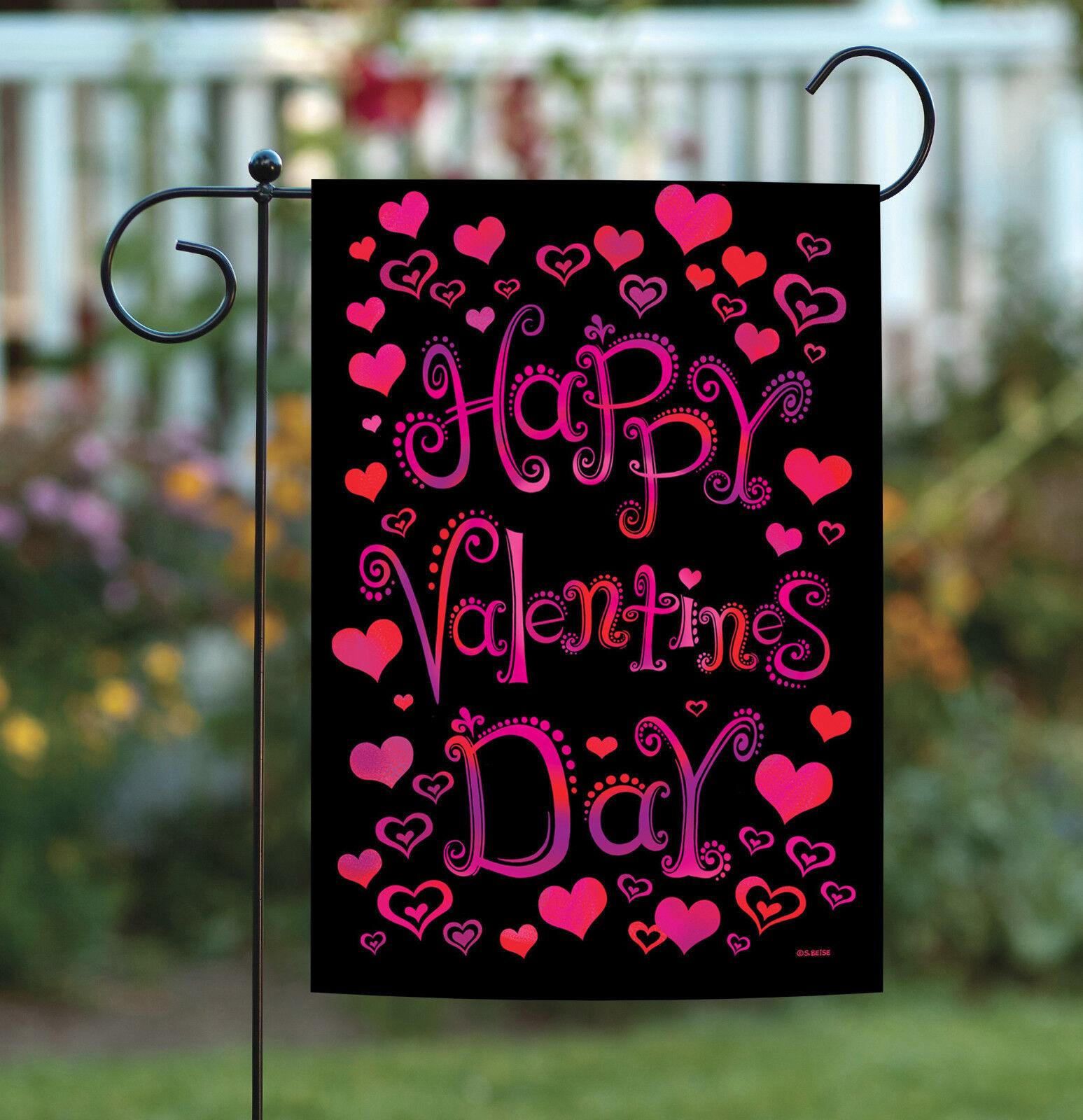 Toland Valentine Hearts 12.5 x 18 Happy Valentine's Day Doub