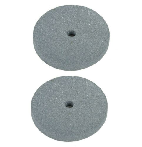 """2x 6"""" Emory Style Bench Grinder Stone Wheel 3/4"""" Wide x 1/2"""" Arbor (Coarse Grit)"""