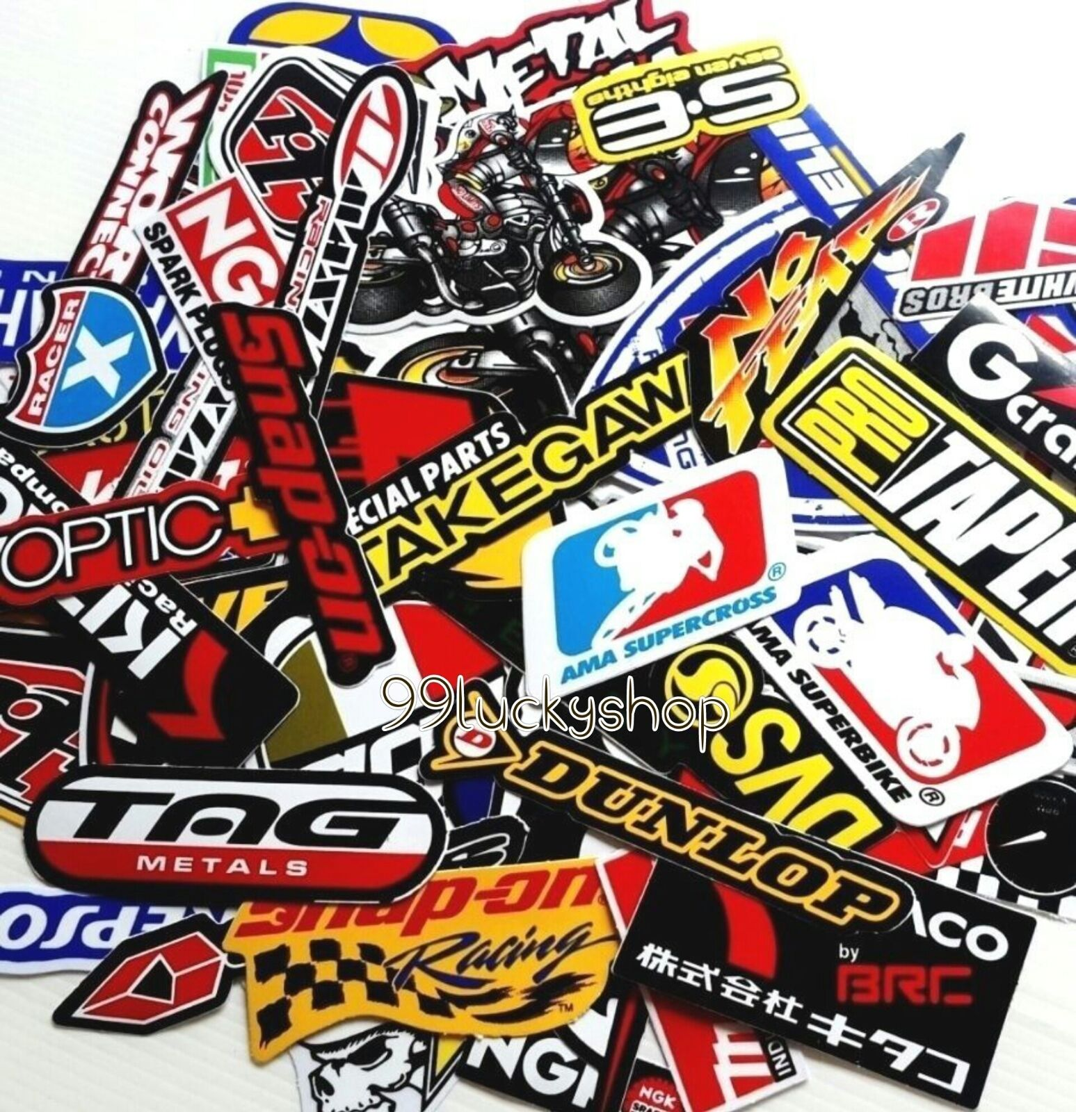 50 Mixed Random Stickers Motocross Motorcycle Car ATV Racing Bike Helmet Decal