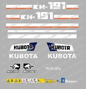 KUBOTA-KH191-SET-COMPLETO-DE-PEGATINAS-PARA-MINIEXCAVADORA