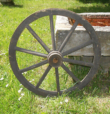 Old Cartwheel Spoked Wheel Ø 50 CM Country House Vintage Shabby! (4