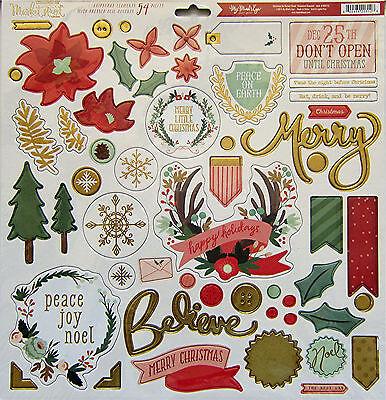 My Mind's Eye [Christmas on Market Street]  12 x 12 Chipboard Elements -Save 40%
