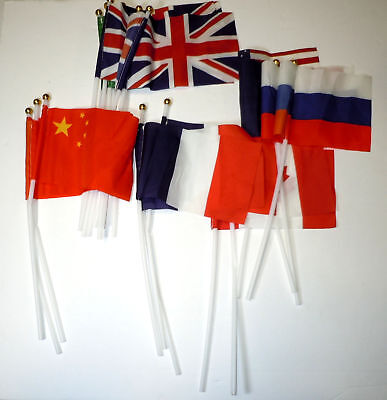 """Lot of 20 Miscellaneous 6 1/2"""" x 4"""" Country Flags"""