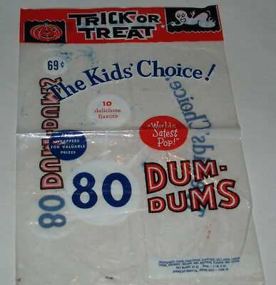 1960's Dum Dum Candy Halloween Trick or Treat store bag - Halloween Candy Store