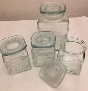 Glass Canisters; Maxwell Williams 3x Medium, 1x Large Launceston Launceston Area Preview