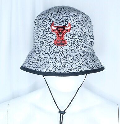 New Era Chicago Bulls Hardwood Classics Gray Bucket Hat XL Windy City Elephant