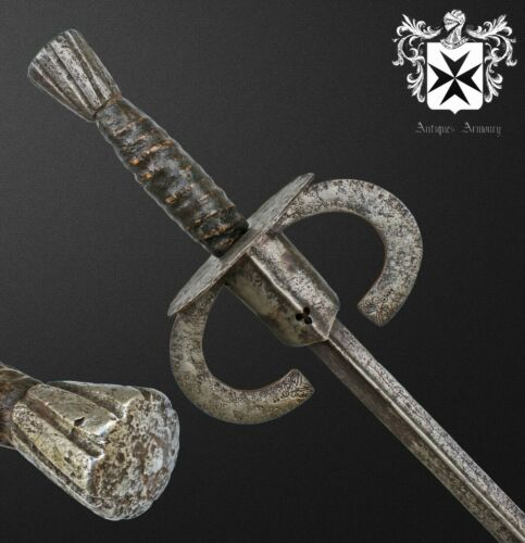 Rare 16th - 17th Century European Estoc / Rapier / Sword