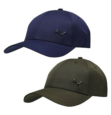 Mens Puma Headwear Athlete Breathable Curved Metal Cat Golf Cap