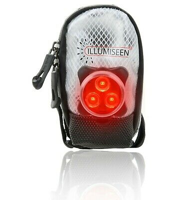 Saddle Bag w/ LED – Works Best For Road Bike And MTB – Rear Tail