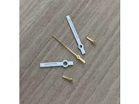 Chronographen Schwarz//Gold Zeigersatz Retro für ETA Valjoux 7733 NOS Style