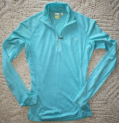 ICEBREAKER BodyFit 150 Pure Merino Wool Activewear Top-Wmn's XS-Light Blue-FLAWS