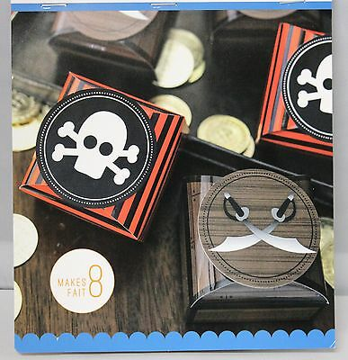 PIRATE THEME PARTY, FAVOR, GIFT, TREAT BOXES TREASURE LOOT,  8 BOXES KIM BYER