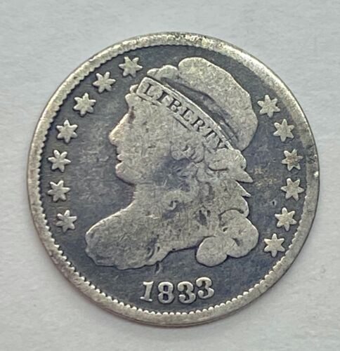 1833 Capped Bust Dime - Circulated 90% Silver US Coin *1z4
