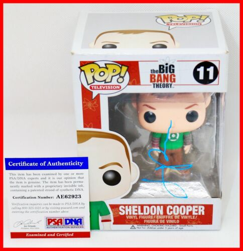 Jim Parsons Signed Autographed Sheldon Cooper #11 Big Bang Theory Funko POP PSA