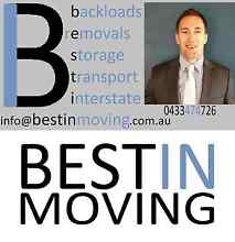 BESTIN MOVING Interstate Removals & Backloads Australia Sydney Region Preview