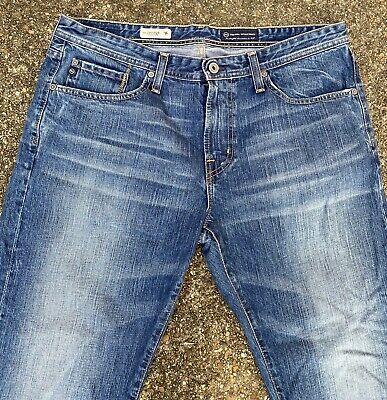AG Adriano Goldschmied The Protege Straight Leg Men's Blue Jeans 36 X 34 Denim