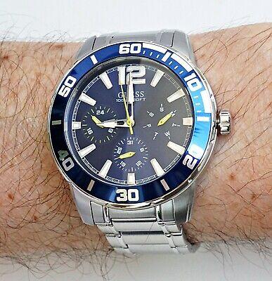 GUESS Watch Men's Wristwatch W1249G2 Trek IP Silver New