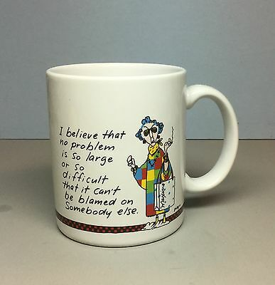 Hallmark MAXINE Mug (No problem so large...can't be blamed on somebody else)
