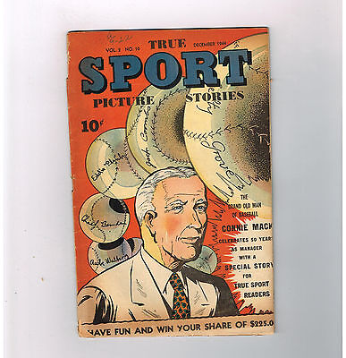 TRUE SPORT PICTURE STORIES (v2) #10 Gold Age (1944) find featuring Connie Mack!