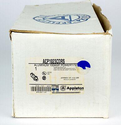 Appleton Acp1023cdrs 100-amp Hazardous Loc Pin Sleeve Powertite Plug 100 2w 3p
