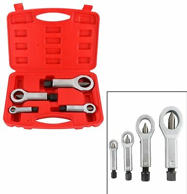 4x Nut Splitter Breaker Damaged Broken Corroded Stuck Remover Screw Nut Tool Kit ()