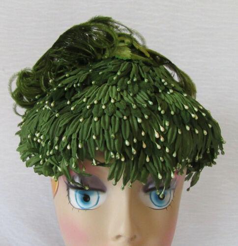 Vintage Ladies Fascintor Hat Ostrich Feathers