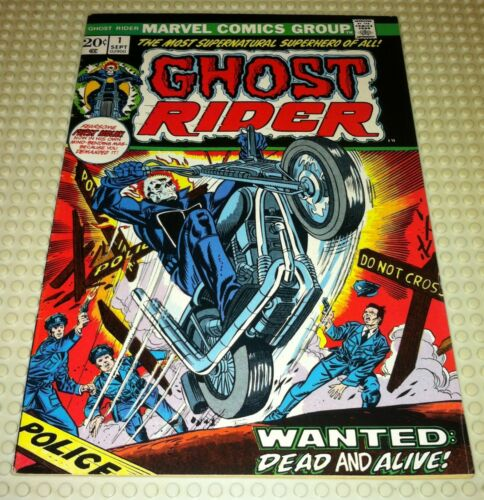 MARVEL COMICS AUGUST 1973 GHOST RIDER  # 1 1ST APPEARANCE DAIMON HELLSTROM