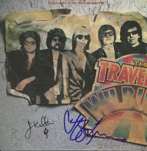 Traveling Wilburys signed Vinyl Record, Jeff Lynne, Jim Keltner ELO, Beatles