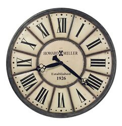 HOWARD MILLER EXTRA LARGE GALLERY WALL CLOCK 49  COMPANY TIME  625-601