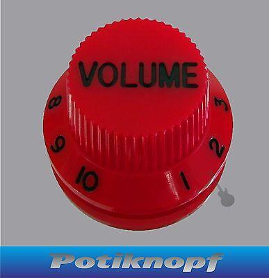 Hutform - Volume Knob - rot mit schwarz - HKV-RD-BK - Potiknopf - Knopf