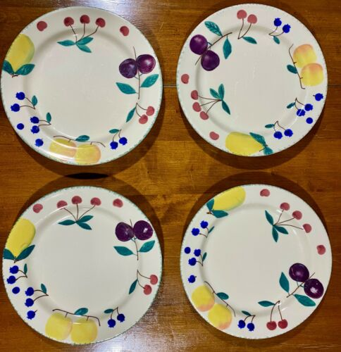HARTSTONE POTTERY Fruit Salad dinner plates, Set of 4