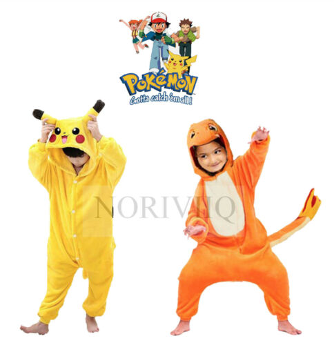 Onesie charmander pajamas adlut child pyjamas fancy dress ebay