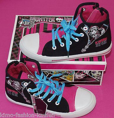 Monster High Sneaker Mädchen Knöchelschuhe Turnschuhe Schuhe Gr. 32 NeU