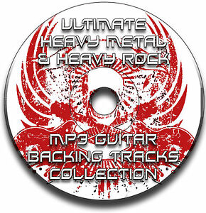 350 HEAVY ROCK & HEAVY METAL MP3 GUITAR BACKING TRACKS COLLECTION JAM TRACKS CD