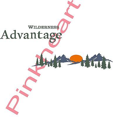 Wilderness Advantage Decal RV sticker decals fleetwood trailer camper USA trees