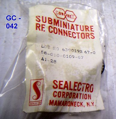 Sealectro Elect. Receptacle Connector for Mil. Radio - P/N: 58-010-0109-67 (NOS)