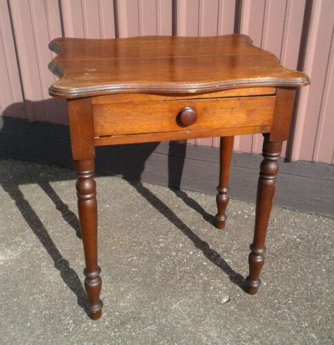Antique Walnut One Drawer Stand 1880s Era