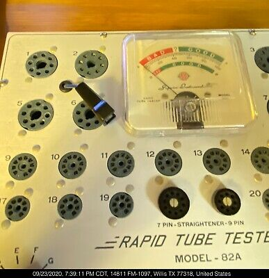 Superior Instruments Model 82a Rapid Tube Tester With Manual Tested Working Nice