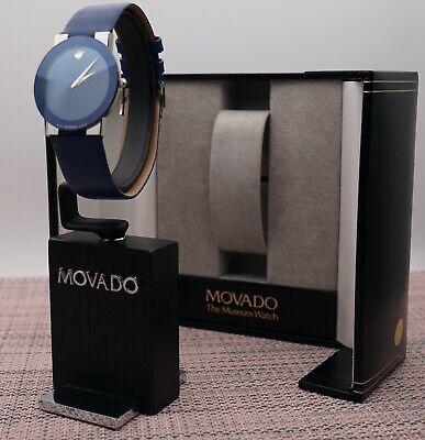 Swiss Movado Safiro Classic Blue Mirror Dial,Leather Band Men's Model,VERY RARE