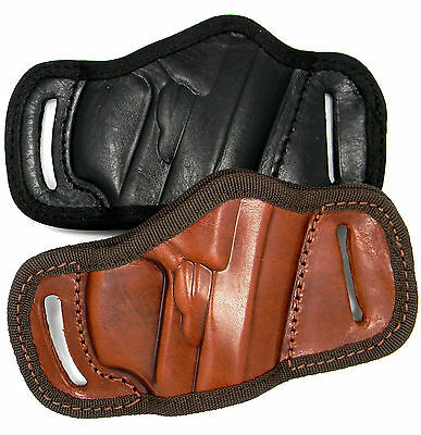 Black Or Brown Leather Quick Draw Belt Slide Owb Holster   Choose Gun And Color