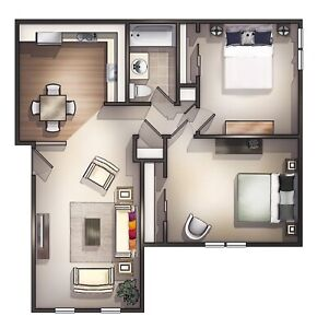 LF Two Bedroom For Rent