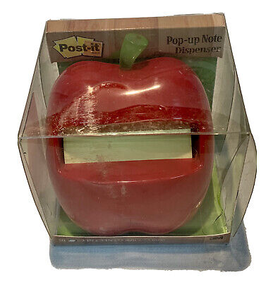 Post It Note Pop Up Note Dispenser Red Apple Weighted One Pad Desk Teacher
