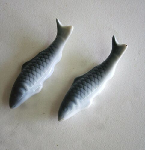 "Two Glass Fish with their Tails Up about 3 1/8"" long"